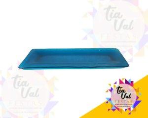 Foto de Azul prato retangular GRANDE