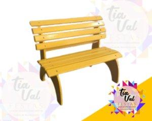 Foto de Banco praça amarelo (PEQUENO)