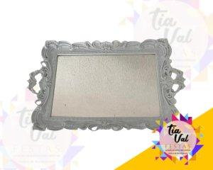 Foto de Bandeja de plastico branca espelhada c/ alça