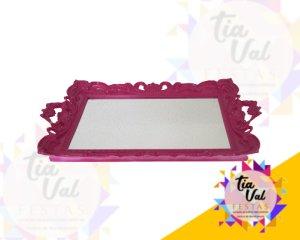 Foto de Bandeja de plastico pink espelhada c/ alça