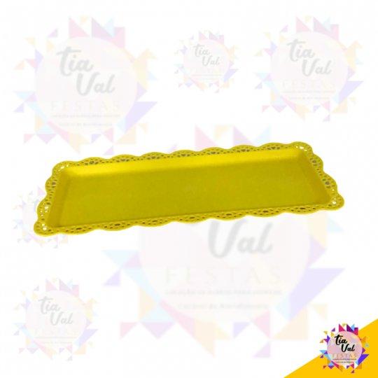 BANDEJA RET. AMARELA (PLASTICO) 15 CM X 38 CM