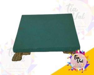 Foto de Base de madeira verde quadrada P