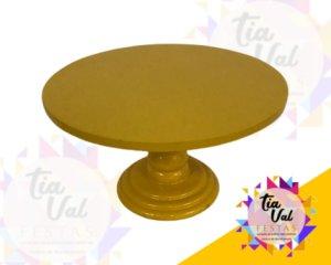 Foto de base redonda amarela P