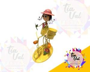 Foto de BONECOS DE FERRO menina amarela bicicleta