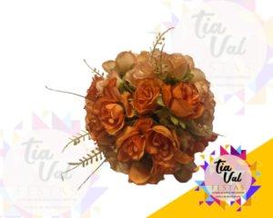 Foto de Bouquet de rosas laranja PEQUENO