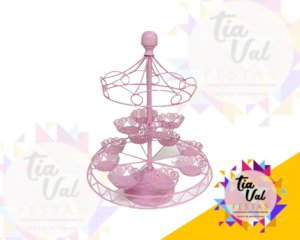 Foto de Cinzelado rosa carrocel p/ cup cake