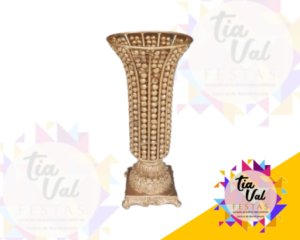 Foto de Cristal dourado vaso taça P  (todo dourado)