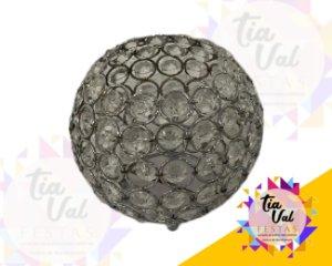 Foto de Cristal prata castiçal bola