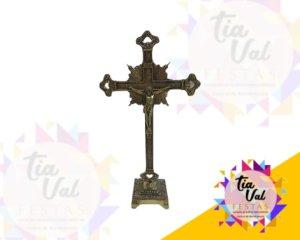 Foto de Crucifixo dourado (PE QUADRADO) (0221)