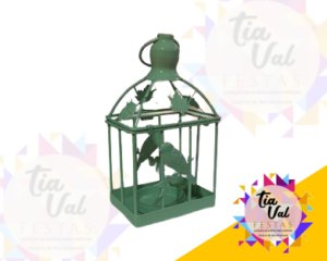 Foto de Gaiola verde bebe quadrada PP c/ passarinho