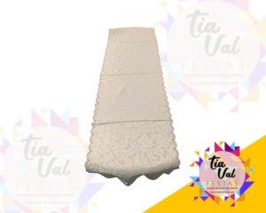 Foto de Passadeira branca brocada 0,40cm x 1,35