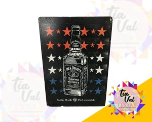 Foto de Placa Jack Daniel garrafa c/ estrelas