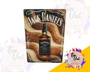 Foto de Placa Jack Daniel garrafa c/ fundo marron