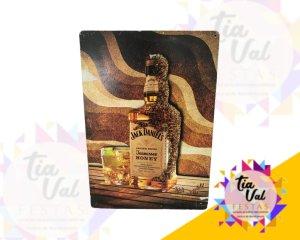 Foto de Placa Jack Daniels DOURADA C/ COPO