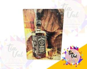 Foto de Placa Jack Daniels garrafa c/ copos