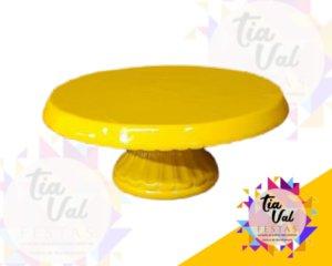 Foto de Porcelana Amarela Boleira Borda p/ Baixo P