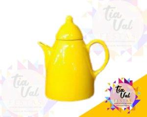 Foto de Porcelana amarela bule