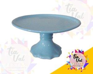 Foto de Porcelana Azul Claro Boleira Lisa M
