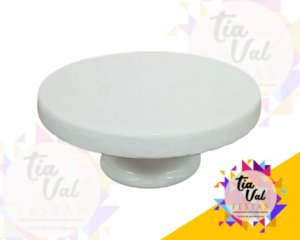 Foto de Porcelana Branca Boleira Borda p/ Baixo P