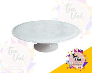Foto de Porcelana branca prato redonda liso c/ pé