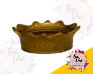 Foto de Porcelana dourada porta coroa G