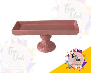 Foto de Porcelana rosa seco prato ret. c/ pe redondo