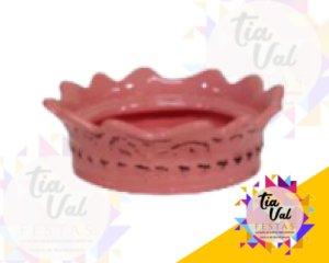 Foto de Porcelana rosa suporte p/ coroa G