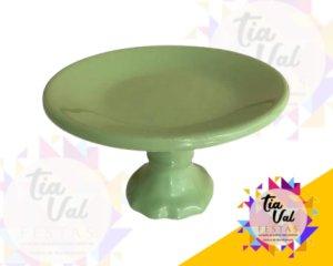 Foto de Porcelana Verde Claro Boleira Lisa P