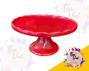 Foto de Porcelana vermelha boleira borda p/ cima