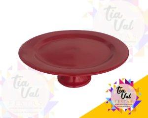 Foto de Porcelana vermelha prato liso G C/ PÉ