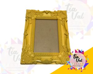 Foto de Porta retrato amarelo arabesco P  10x15