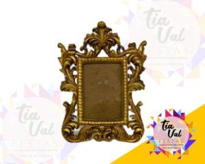 Foto de Porta retrato dourado arabesco  10X14 cm (resina)