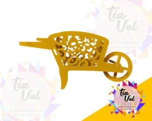 Foto de Provençal amarelo Carro de mão chão
