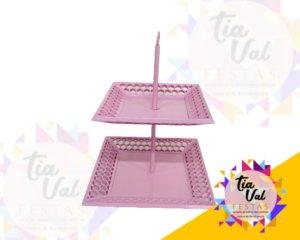 Foto de provençal rosa torre 2 alt quadrada vazada