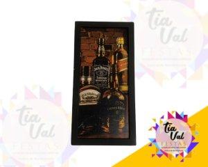Foto de Quadro Jack Daniels garrafas P ret.