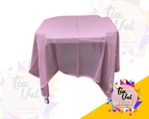 Foto de toalha quadrada escaline rosa