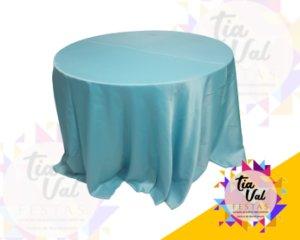 Foto de Toalha redonda grande azul tifany