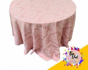 Foto de Toalha redonda grande jacar rosa seco