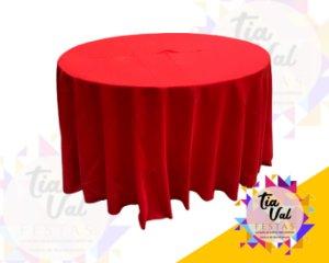 Foto de Toalha redonda grande vermelha - OXFORD