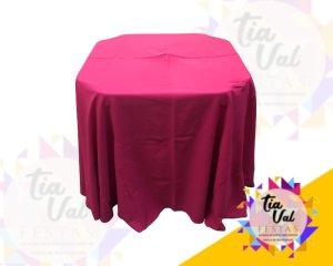 Foto de Toalha redonda pink claro (oxford)