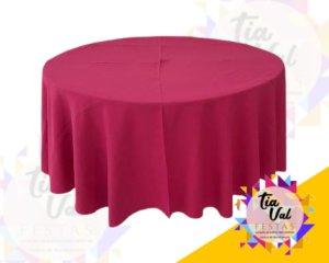 Foto de Toalha redonda pink escura (oxford)