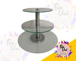 Foto de Torre 03 alturas prata/vidro (c/ centro liso)