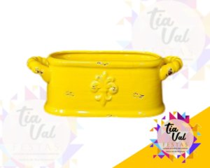 Foto de Vaso amarelo oval c/ alça P