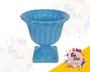 Foto de Vaso azul claro canelado P (porcelana)