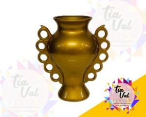 Foto de Vaso dourado c/ alças c / bolinhas