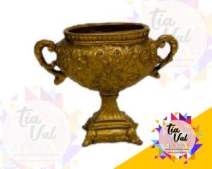 Foto de Vaso dourado taça oval  de resina