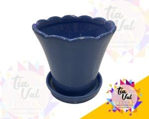 Foto de Vaso lilas c/ prato P( porcelana)