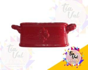 Foto de Vaso vermelho oval